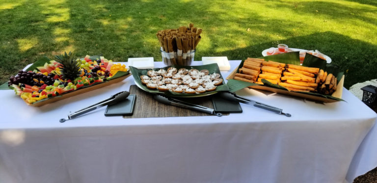 Example of a Little Luzon catering spread